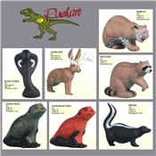 Cibles 3D RINEHART petits animaux, dindons